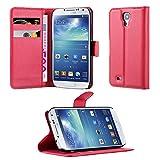 Cadorabo Funda Libro para Samsung Galaxy S4 en Rojo CARMÍN - Cubierta Proteccíon con Cierre Magnético, Tarjetero y Función de Suporte - Etui Case Cover Carcasa