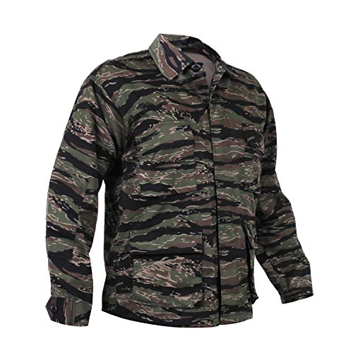 Rothco Camo BDU (Battle Dress Uniform) Military Shirts, Tiger Stripe Camo, M