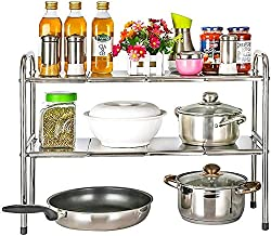 Home Living Museum/Kitchen Microwave Oven Racks Floor Multi Layer Storage Artifact Storage Shelf Stainless Steel Home Livi...