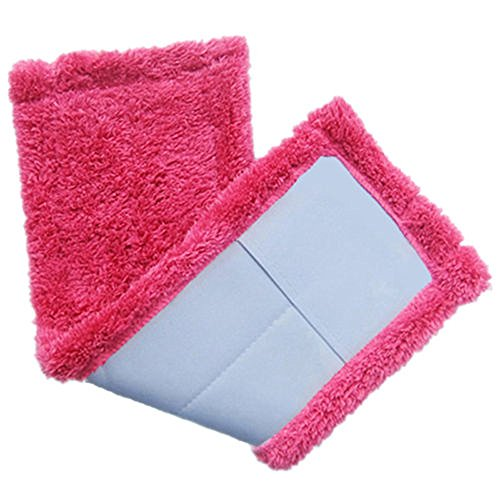 Kethorina Pads Mop Replacement Heads Cleaning Pads Refill Heads for Flat Dust Mops Spray Washable Floor Cleaning Pads Hot Pink