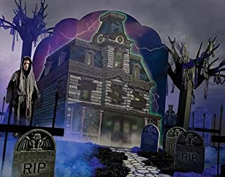 Haunted House Halloween Standee Standup Photo Booth Prop Background Backdrop Party Decoration Decor Scene Setter Cardboard Cutout