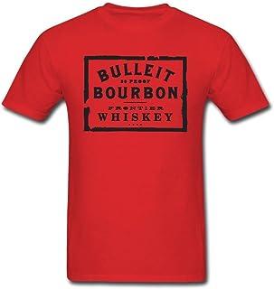 Newm Men`s Bulleit Bourbon Logo O Neck Short Sleeve T Shirt
