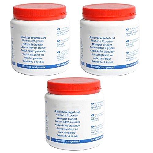Universal Aktiv-Granulat für Dunstabzugshauben mit Aktivkohlefilter, Nachfüllpack (3x 480g)