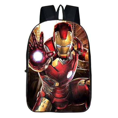 Iron Man - Mochila escolar para niños (11,17 pulgadas), diseño de superhéroe