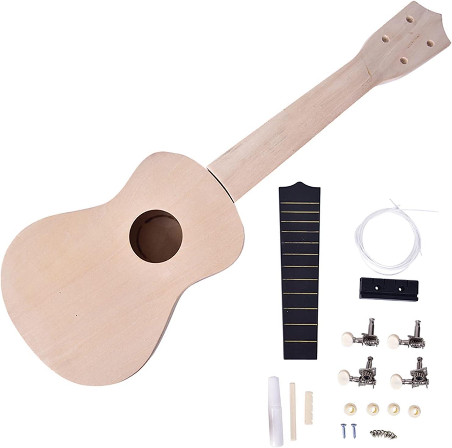 Elegant 21-inch Ukulele DIY Kit New arrival Tool Hawaiian Guitar Assembling Hand Ama
