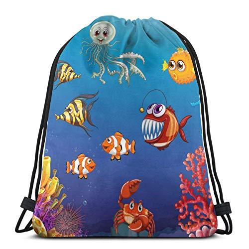Lawenp BBQ Retro Animal Unisex Home Rucksack Shoulder Bag Travel Drawstring Backpack Bag