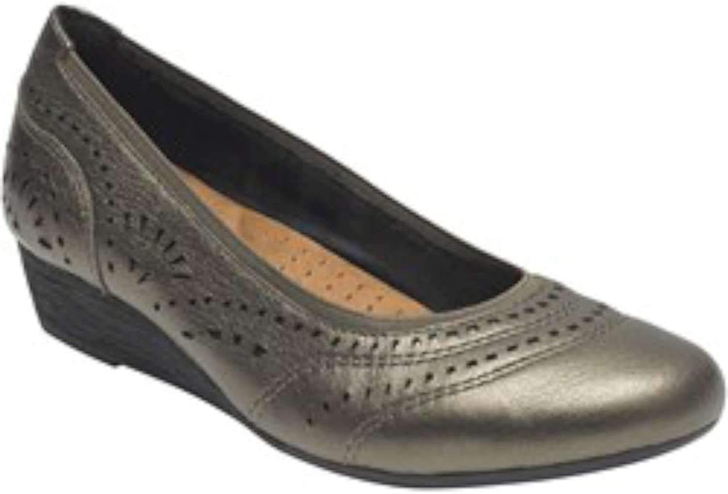 Rockport Cobb Hill Collection Womens Judson Perf Leather Round Toe Classic Pu.