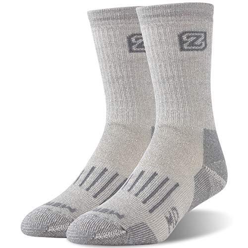 Heated Boot Thermal Socks,ZEALWOOD Merino Wool Hiking Socks Thermal Warm Crew Winter Sock Outdoor Socks Warm Winter Crew Socks for Cold Weather Socks Crew Athletic Socks Valentine's Day Gift Socks