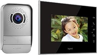 """Legrand 369220 Kit Portier Visiophone avec Interphone et Écran Miroir 7"""", Noir"""