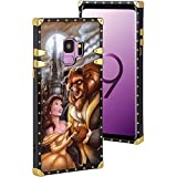 DISNEY COLLECTION Square Phone Shell Case Fits for Galaxy S9 (2018) [5.8'] Beauty and The Beast