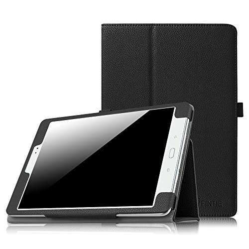 Finite Custodia per Samsung Galaxy Tab A 9.7 - Slim Fit Folio Sottile Pieghevole Case Cover con Funzione Sleep Wake per Samsung Galaxy Tab A 9,7  SM-T550 SM-T555 (9.7 Pollici) Tablet, Nero