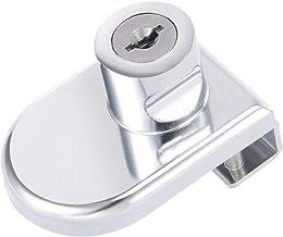 DealMux zinklegering verchroomd etalage scharnierglas kastslot, sleutels even