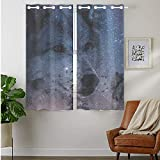 YISUMEI Wolf Galaxy Blue Blackout Window Curtain (2 Panels) 28 by 48 Inch
