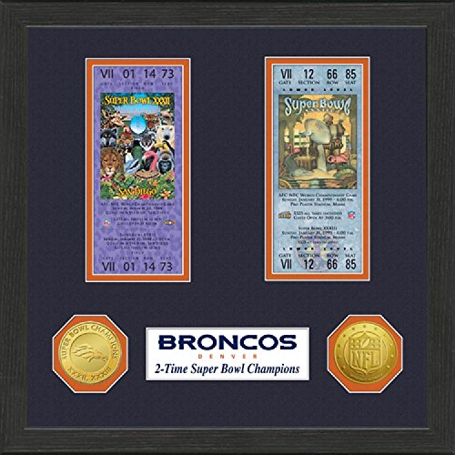 NFL Denver Broncos SB Championship Ticket Collection Frame