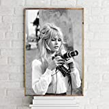 TELEGLO (No Frame) 50 * 70cm Brigitte Bardot Kunst Leinwand