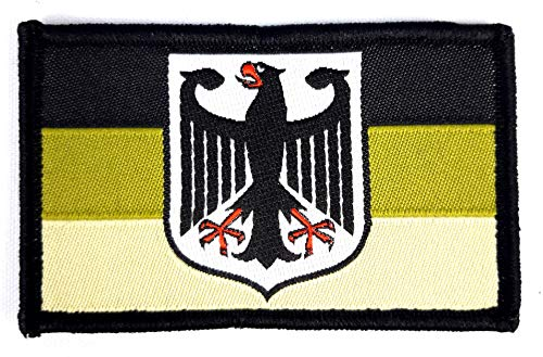 1 x Deutschland Adler Bundeswehr Bund Armee Tarn Grün Camouflage Infanterie Wappen Nationalflagge Deutsch mit Klett