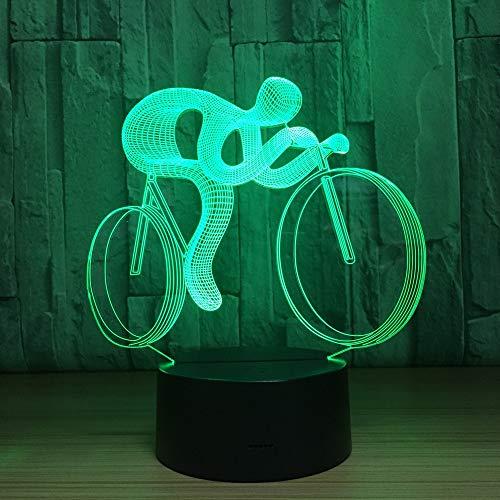 Luces de Ciclismo Luces nocturnas Visión en Color Holograma Luces Decorativas de batería Adecuado para Hombres Deportistas