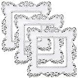 Hysagtek 3 Piezas Flor de lujo Interruptor de luz Pegatinas Enchufe Socket Surround Pegatinas Cubierta Decoración del hogar Etiqueta (Blanco)