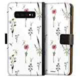DeinDesign Étui Compatible avec Samsung Galaxy S10 Plus Étui Folio Étui magnétique Fleurs...