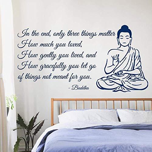 Tatuajes De Pared De Buda Solo Tres Cosas Son Muy Importantes Yoga...