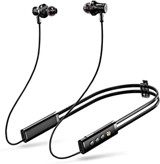 Active Noise Cancelling Neckband Bluetooth Headphones, Bluetooth 4.2 ANC Wireless Earphones with Mic and Magnetic Earbuds,...