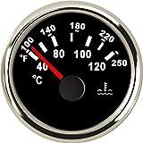 CAIZHIXIANG 52 Millimetri Auto Acqua indicatore di Temperatura 40-120 100-250 Fahrenheit 9-32V Meter Impermeabile dell'Acqua del Calibro del Temp Motociclismo (Color : Ivory, Size : Gratuito)