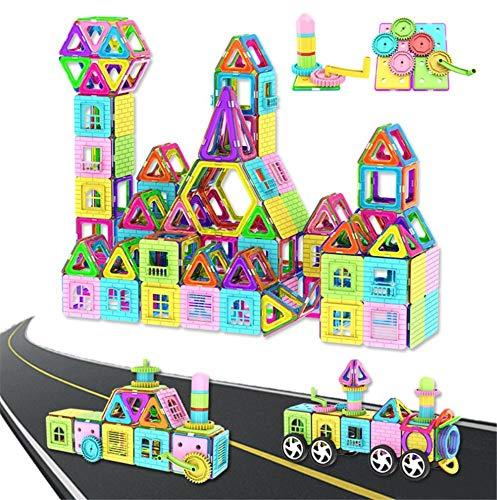 szegwh Kinderspielzeug-Magnetstückbausteine, pädagogische Magnetbausteine für Kinder, 80 Stück
