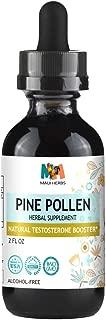 Pine Pollen Testosterone Tincture Alcohol-Free Liquid Extract, Pine Pollen (Scots Pine, Pinus sylvestris) (2 FL OZ)