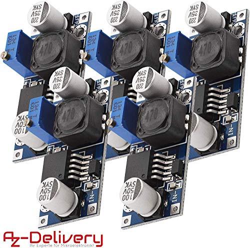 AZDelivery 5 x LM2596S DC-DC Netzteil Adapter Step down Modul für Arduino inklusive eBook!