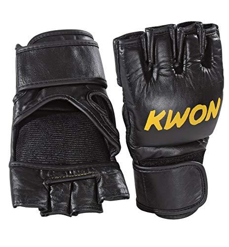 Kwon MMA Handschuhe Leder Rindsleder schwarz