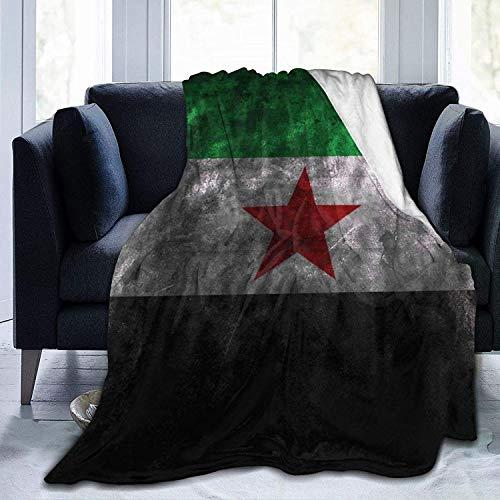 Decke 3D Syrien Flagge Ultra-Soft Micro Fleece Decke Throw Super Soft Gemütliche Bettdecke für Bett Sofa Couch Wohnzimmer Strand Picknick Herbst Frühling Winter Verwenden Sie Decke