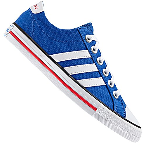 adidas NEO Label Canvas VL 3 Stripes Derby Sneaker Lifestyle Schuhe BLAU Weiss, Farbe:Blau, Schuhgröße:38 2/3 EU