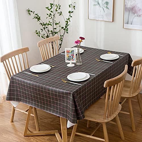 LIUJIU Mantel de PVC a prueba de aceite, a prueba de derrames, rectangular, de vinilo, protector de mesa, lavable para uso en exteriores e interiores, 120 x 180 cm