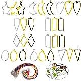 Biluer 30PCS Bases de Colgante Marco Colgante Molde Resina Set And Cuerda de Cuero 1.5mm Collar De Cuerda Waxed Cuerda para La Fabricación De Joyas De Bricolaje Hacer De Resina