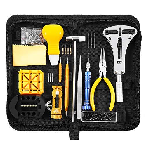 BABAN 168pcs Orologi Strumenti/Guarda professionale kit Repair Tool,kit di riparazione Custodia per orologio posteriore,Dispositivo di rimozione del collegamento pin di apertura etc.