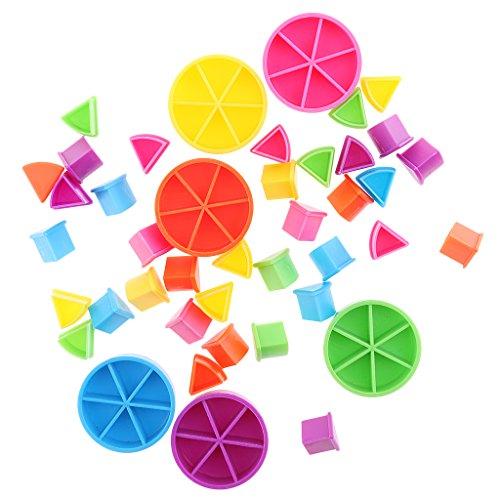 MagiDeal 42 Pieza Paquete de Búsqueda Trivial Pedazos de Pastel para Fracciones de Matemáticas