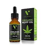Hemp Oil for Pain & Anxiety Relief - 250mg Organic Pure Hemp Extract Drops - Natural Hemp Oils for Better Sleep, Mood & Stress - Mint Flavor