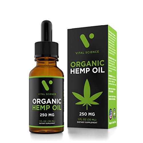 hb oils center hemp oils Hemp Oil for Pain & Anxiety Relief - 250mg Organic Pure Hemp Extract Drops - Natural Hemp Oils for Better Sleep, Mood & Stress - Mint Flavor