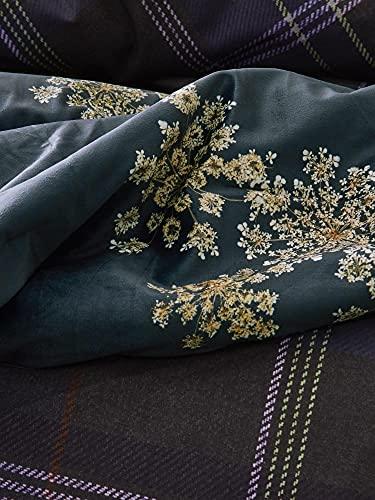ESSENZA Quilt Lauren Blumen Polyester Indigo Blue, 180x265 cm