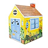 """Melissa & Doug Country Cottage Indoor Playhouse (Role-Play Center, Sturdy Construction, 54"""" H x 39"""" W x 33.4"""" L, Great Gift for Girls and Boys - Best for 3, 4, 5 Year Olds and Up)"""