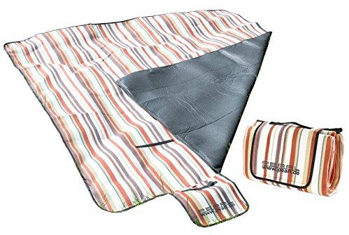 PEARL Picknikdecke: Fleece-Picknick-Decke 200 x 175 cm, Wasserabweisende Unterseite (Thermo Picknickdecke)