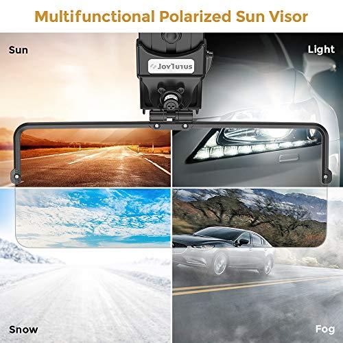 LOVELIN Lovelin17 Coche Sun Visor Polarizado Sombrilla Placa Claro Visión Anti-Dazzle Anti-UV Rotatable Ajustable Sol Bloqueador de Visor Accesorios DE Coche