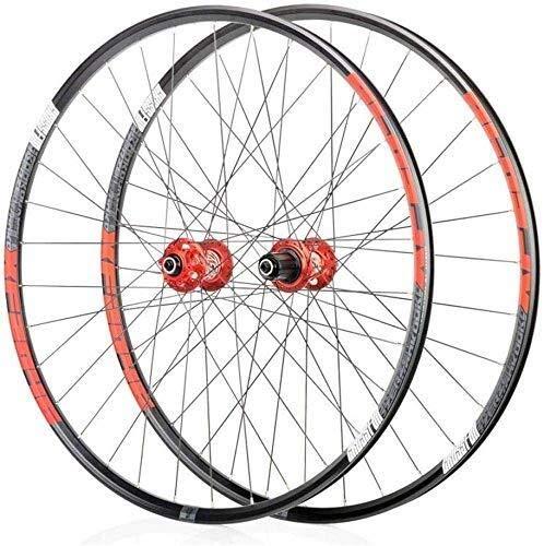Ruedas Bicicleta llantas MTB Juego de ruedas for bicicleta 26, de doble pared Ciclismo ruedas de liberación rápida sellado rodamientos del eje 32 del agujero del disco de freno 8 9 10 soportes de velo