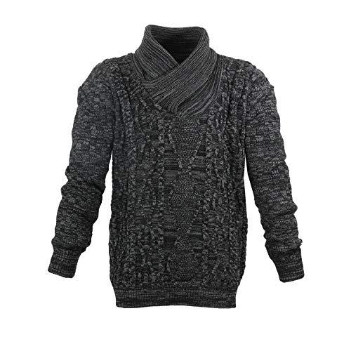 Lavecchia LV-488-Black-Anthra grote trui