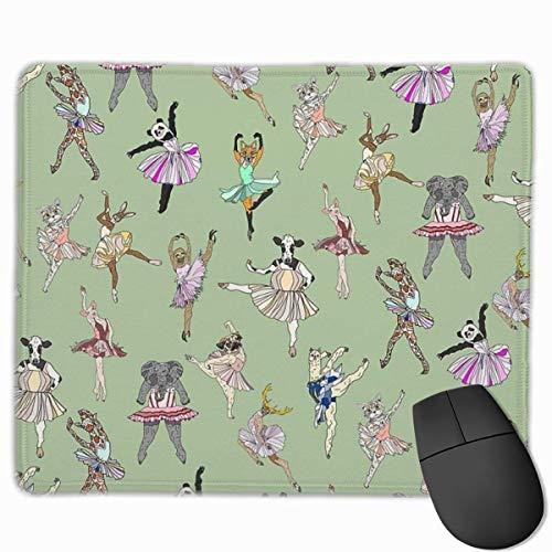 Gaming Mouse Pad Tier Ballett Tanzen Giraffe Mops Faultier Dekorative Mousepad Matte Gummibasis Home Decor für Computer Laptop Office Home