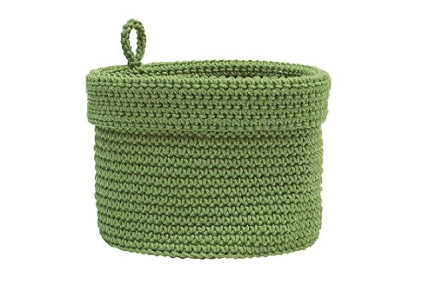 Heritage Lace Mode Crochet Basket with Loop, 10 x 10, Sage