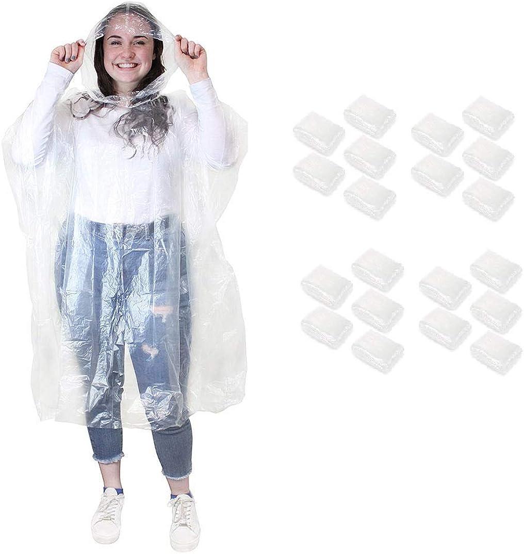 Emergency Disposable Rain Ponchos Waterproof Coat with Hoods Portable Men Women