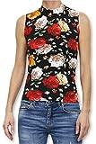 Guess SL TN Ester Swtr Camiseta Cuello Alto, Multicolor (Flower Power Blk Com Pc49), X-Large para Mujer