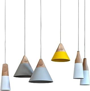 SXXYTCWL Pendentif Moderne Light Restaurant, Table à Manger, Tea Shop Bar Lustre en Bois Restaurant Personnalité Creative ...