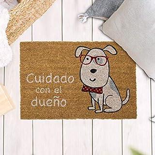 TIENDA EURASIA® Felpudos Entrada Casa Originales y Divertidos - Material : Fibra de Coco HQ con Base Antideslizante de PVC...